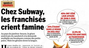 avis sur la franchise subway